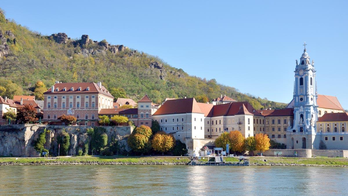 Schloss Dürnstein - Blick von der Wachau