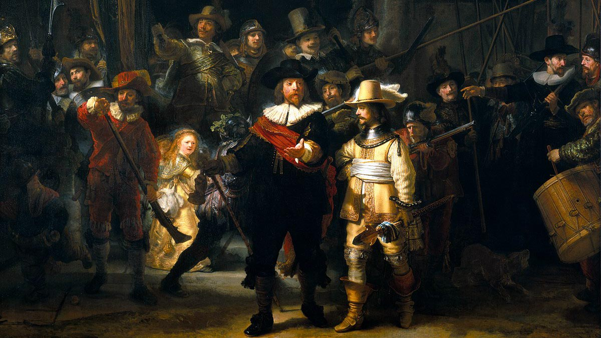 Ist im Reichsmuseum zu bestaunen: Die Nachtwache von Rembrandt van Rijn