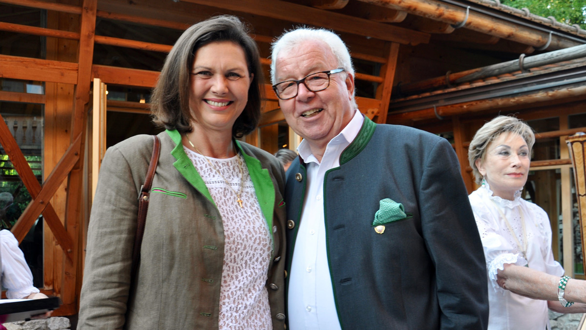 Staatsministerin Ilse Aigner mit Gourmino Express Autor Wolfgang Ritter. Foto WR