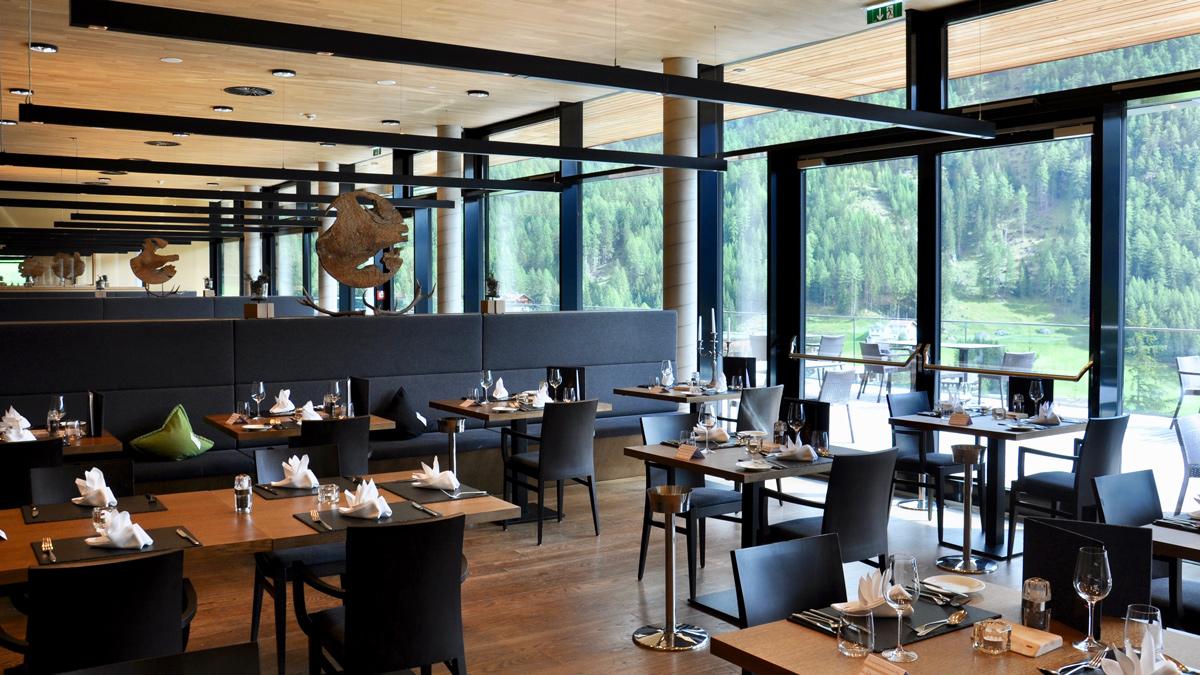 Gradonna: Freier Blick in die Natur von allen Restaurants. Foto WR