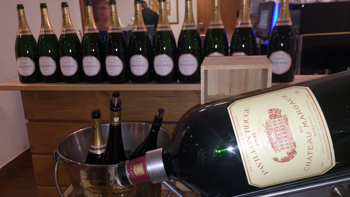 Grand Opening: Laurent-Perrier Champagner und 1990 Pavillon Rouge von Chateau Margaux. Foto WR