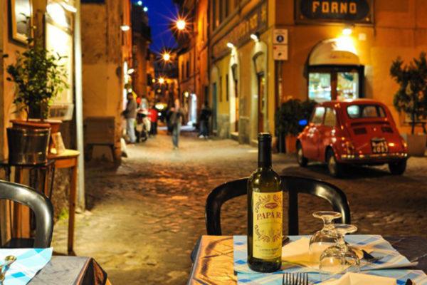 Trastevere: Romantik pur am Abend.