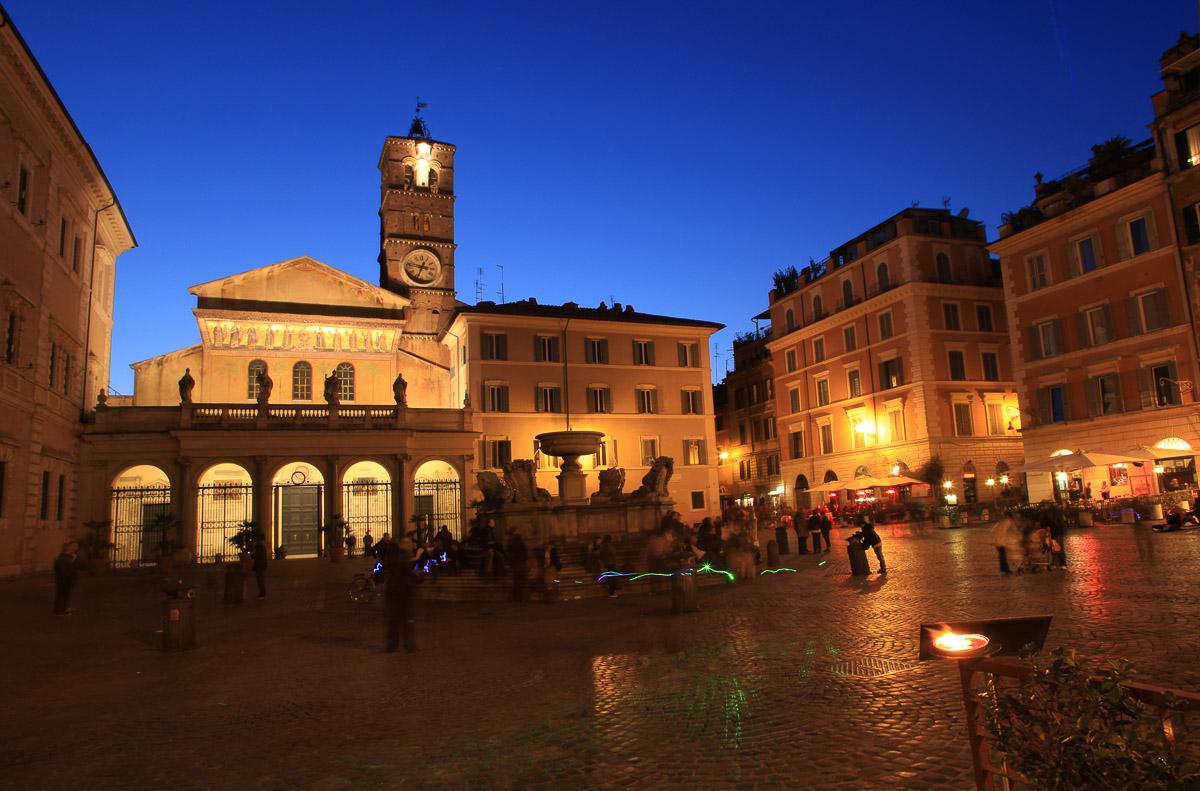Basilicadi Santa Maria in Trastevere.