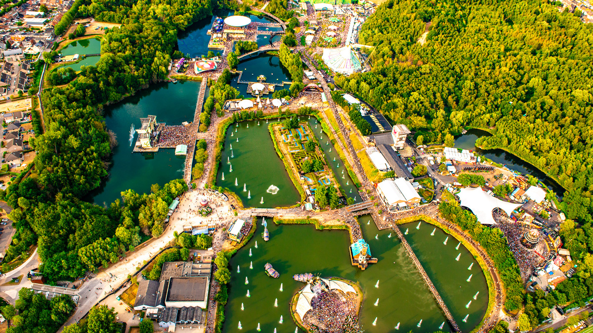 Tommorowland von oben. Copyright Tomorrowland
