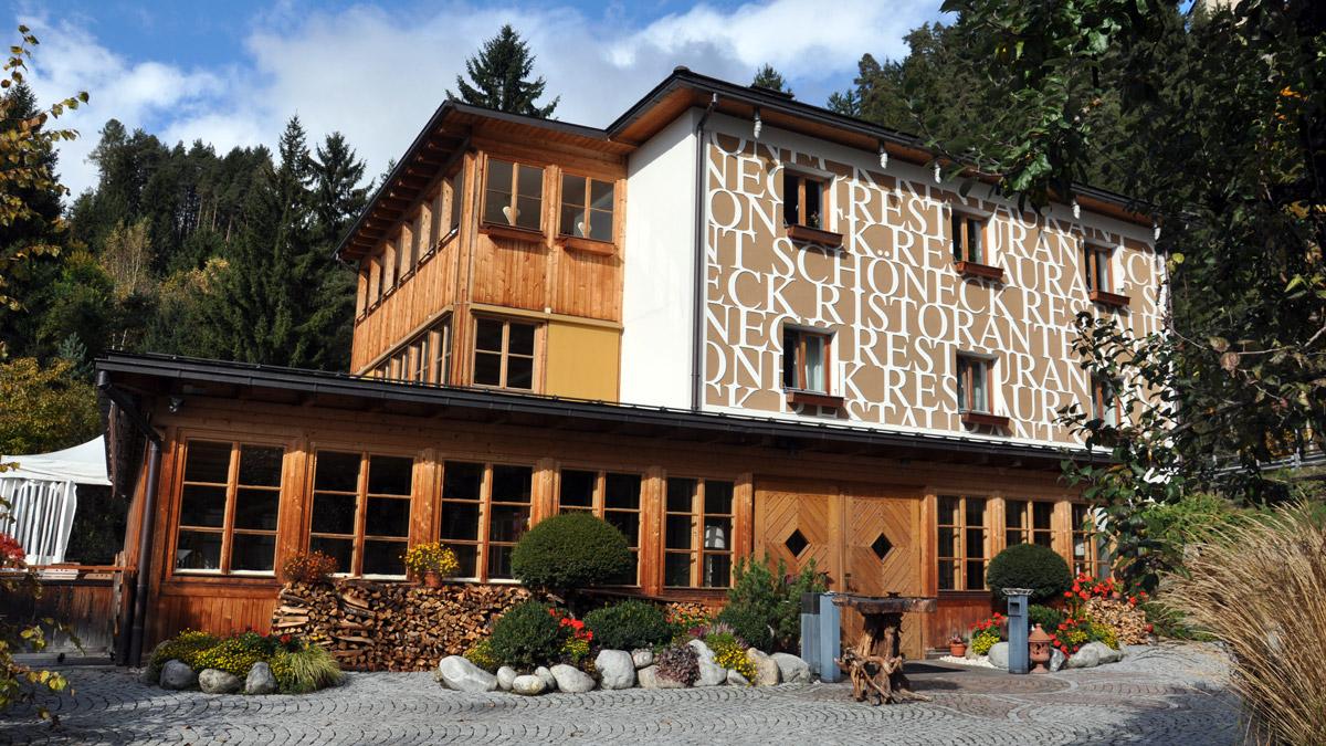 Eine der besten Adressen in Südtirol: Das Schöneck in Pfalzen/Mühlen Foto WR