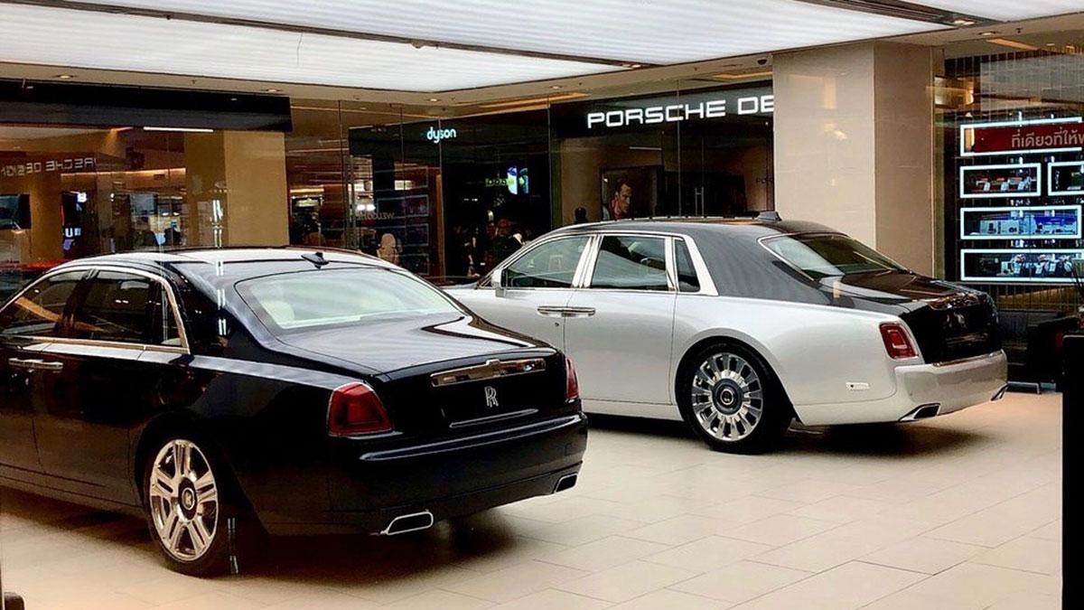 Siam Paragon: Auch Rolls Royce und Bentley sind im Angebot. Foto WR