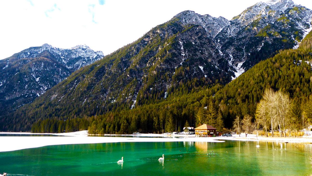 Smaragdgrüner Toblacher See. Foto IH