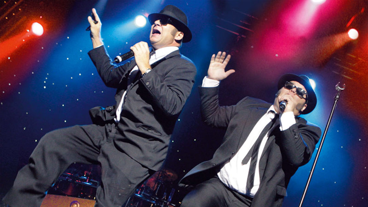 Chris & Geoff Dahl alias The Blues Brothers. Foto Estrel Hotel