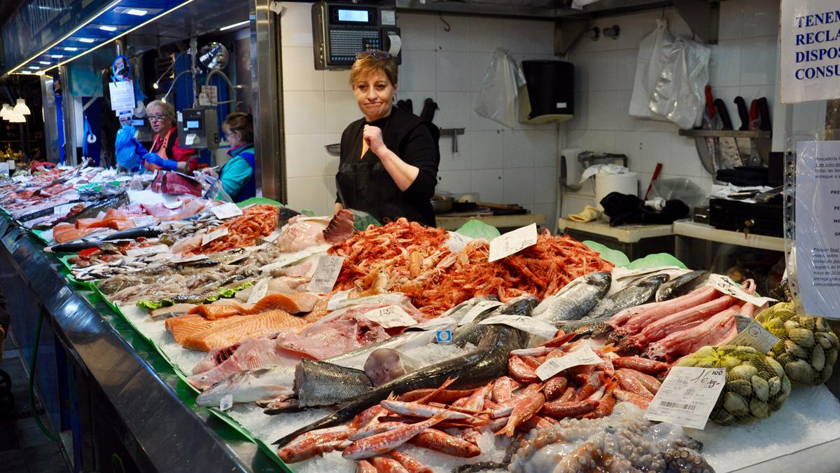 Santa Catalina: Bestes Fischangebot am Vormittag in der Markthalle. Foto HvF