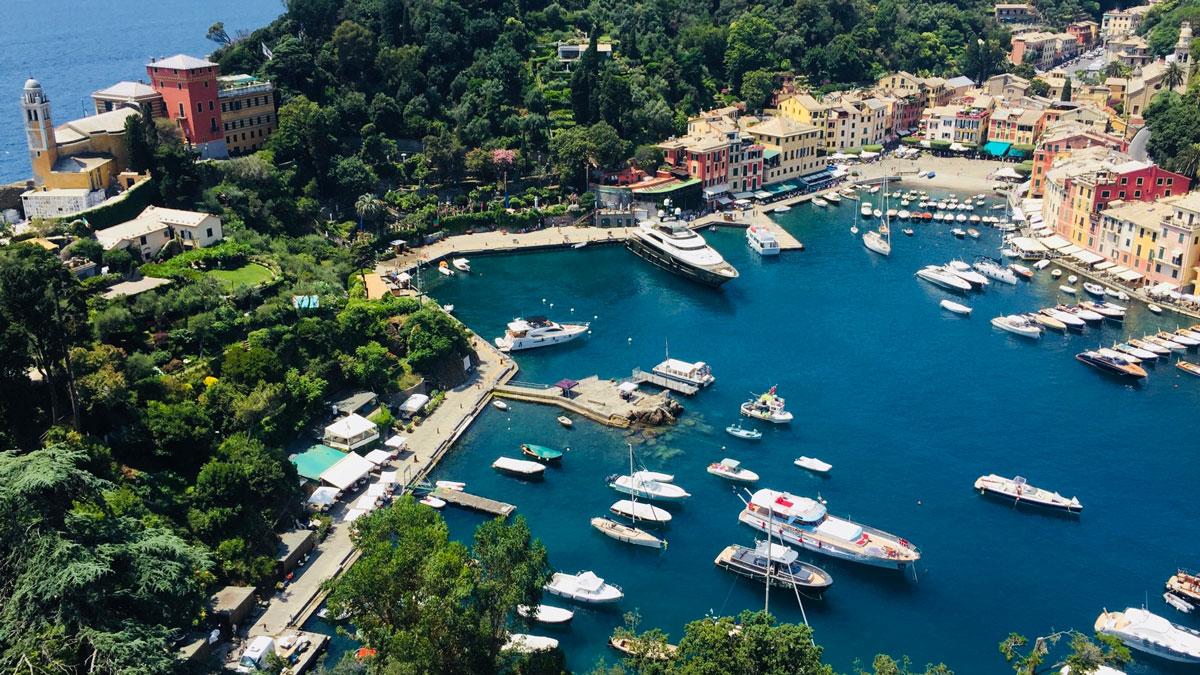 Blick auf Portofino. Foto Inna Hemme