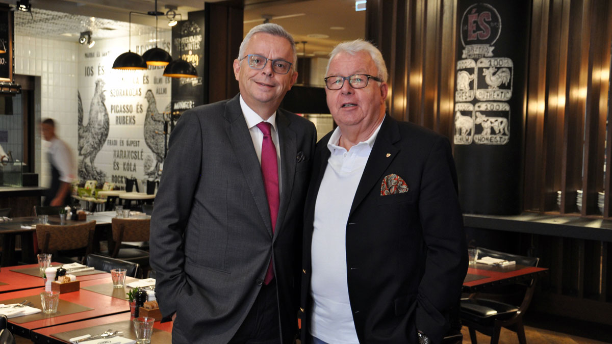 Corvinus General-Manager Stephan Interthal, Gourmino Express Autor Wolfgang Ritter. Foto WR