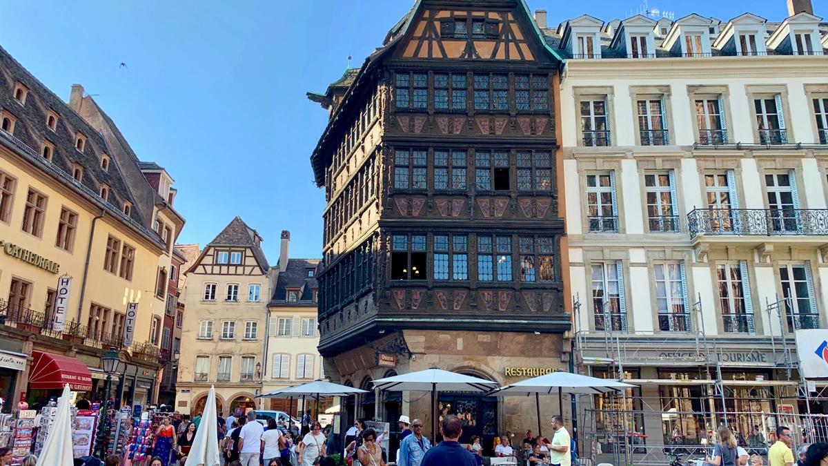 Restaurant Maison Kammerzell, das schönste Fachwerkhaus von Straßburg. Foto WR