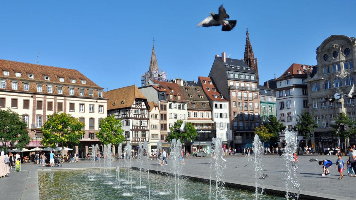 Der Kleberplatz im historischen Zentrum der Stadt. Foto WR