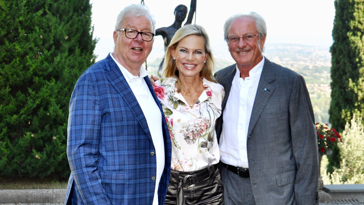 Wolfgang Reitzle, Nina Ruge und Gourmino Express Autor Wolfgang Ritter. Foto WR