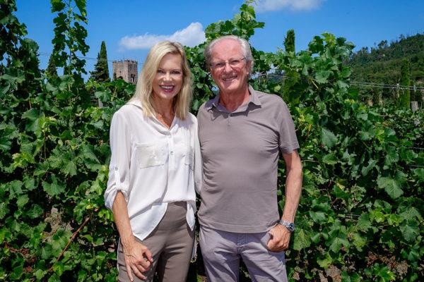 Nina Ruge und Wolfgang Reitzle: Glücklich als Wein- und Olivenölproduzenten. Foto Massimo Tessandori Bernardini