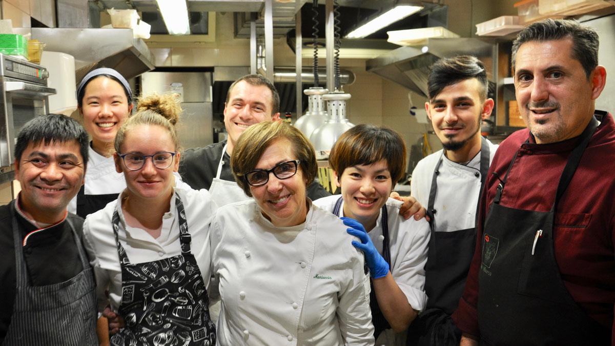 Restaurant San Marco: Küchenchefin Mariuccia Roggero mit ihrem erfolgreichem Team. Foto WR
