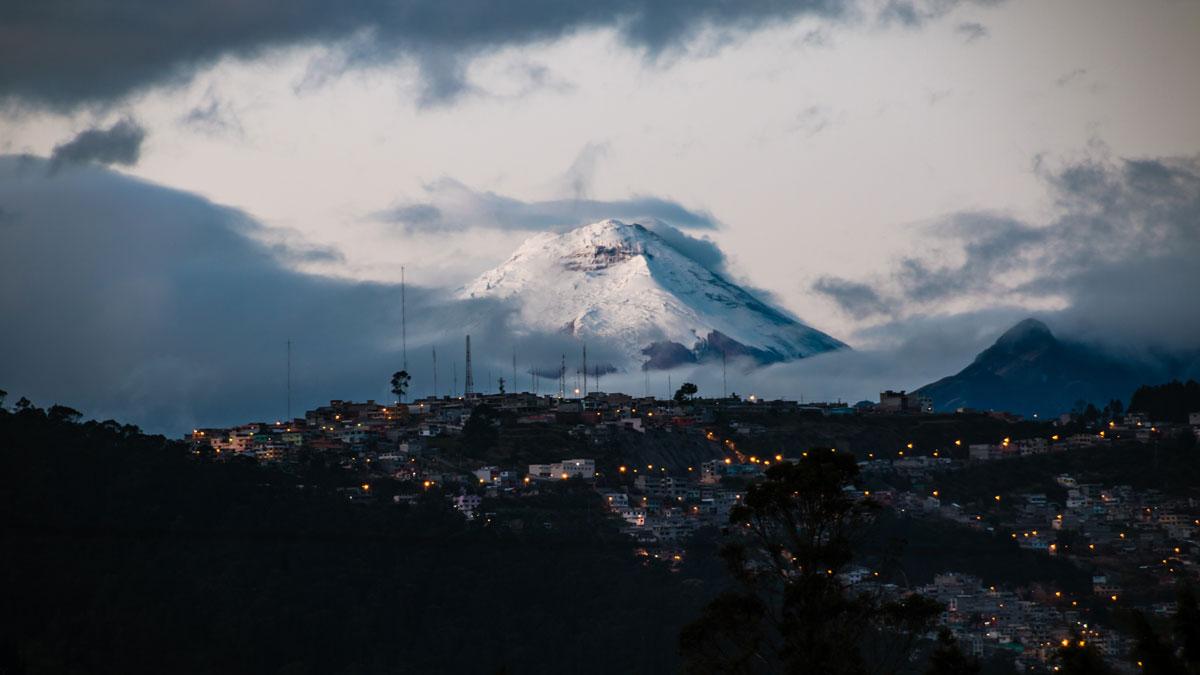 Abendstimmung über Quito