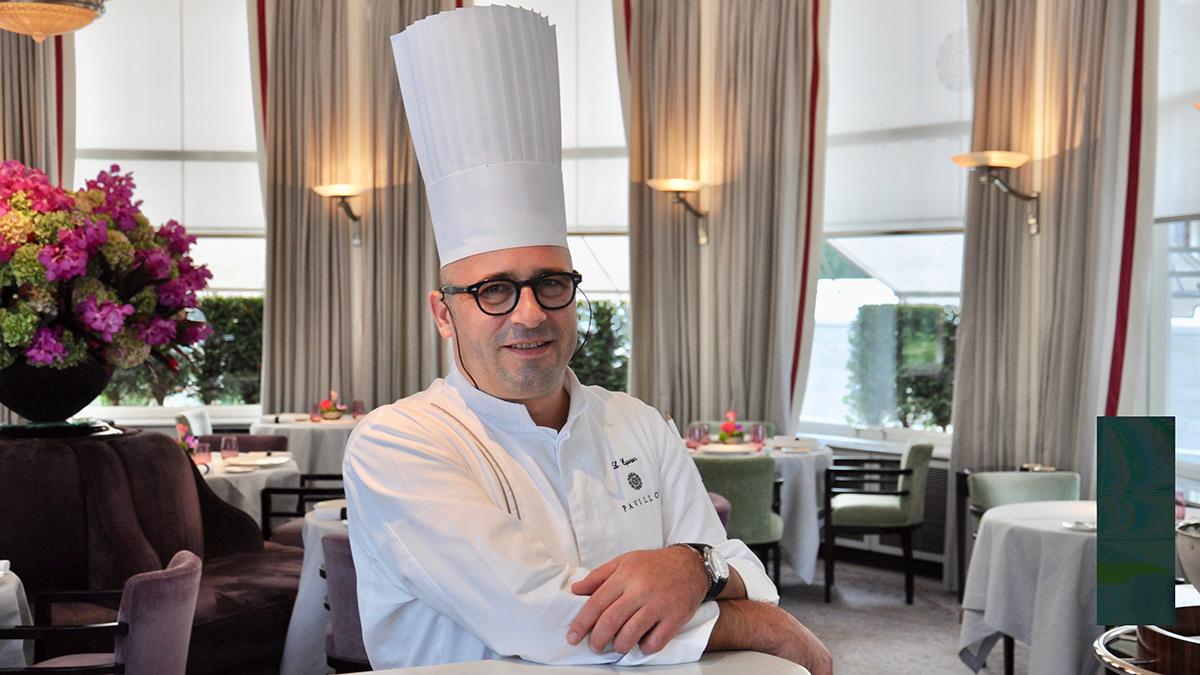 """Restaurant """"Pavillon"""": Küchenchef Laurent Eperon freut sich über zwei Michelin-Sterne. Foto WR"""