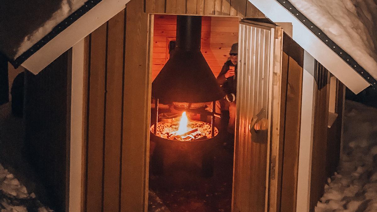 Später am Abend gehts in die Sauna. Foto Inna Hemme