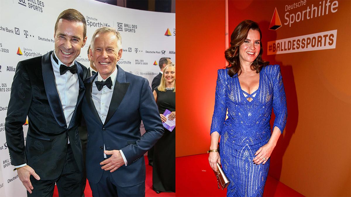 Erfolgreiche TV- Moderatoren: Johannes B. Kerner, Kai Pflaume (links). Darf auf dem Ball nicht fehlen: Eisprinzessin Katarina Witt(rechts). Foto PeoplePicture