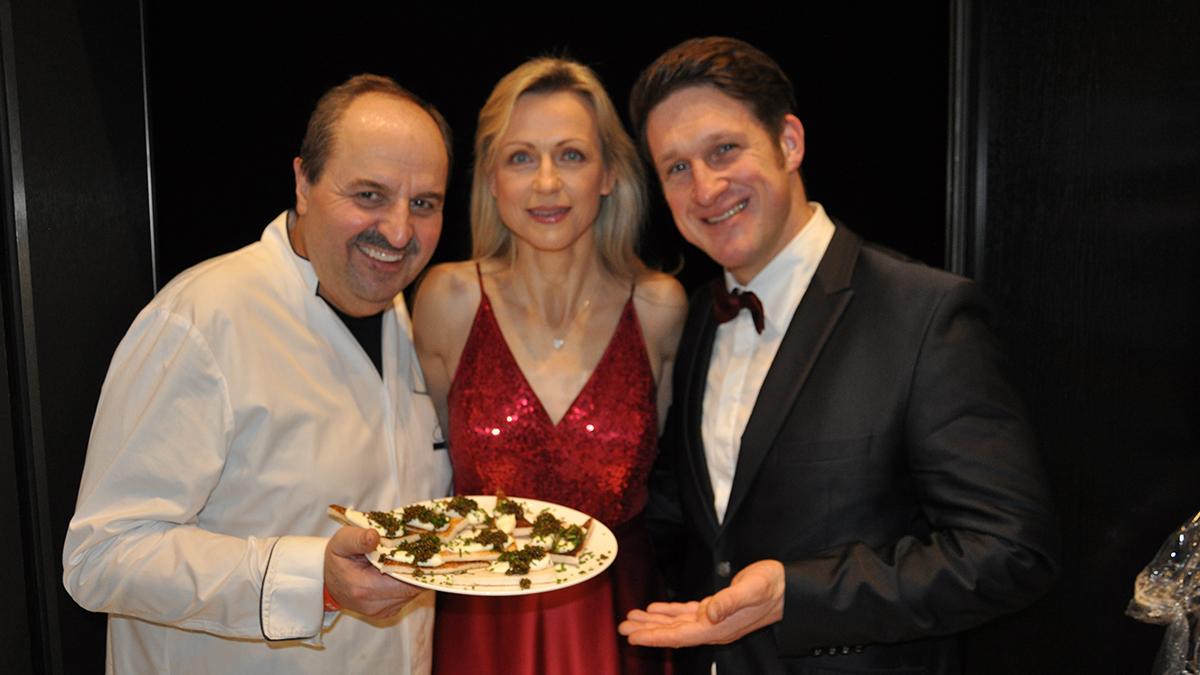 Johann Lafer, Matthias Steiner und Ehefrau Inge. Foto WR