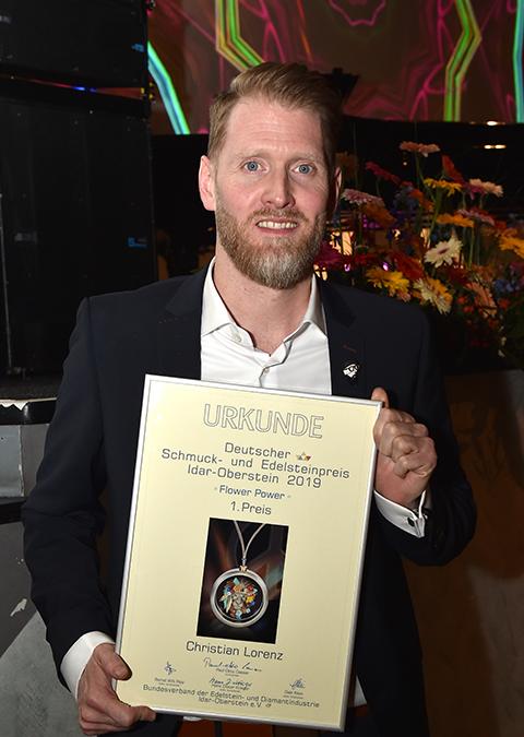 Christian Lorenz gewann beim 50. Schmuck- und Edelsteinpreis