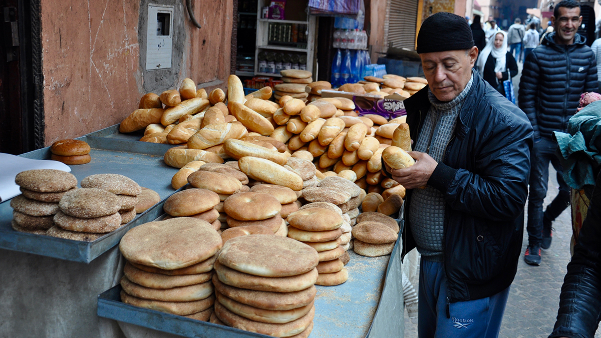 Frisches Brot überall in der Medina. Foto WR