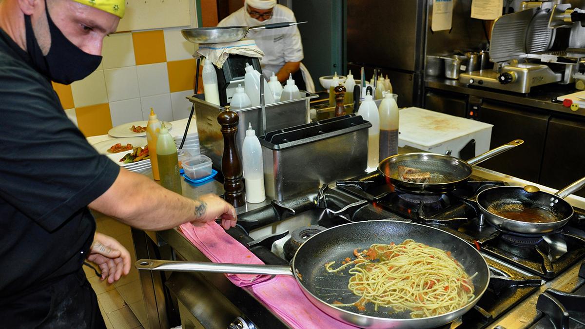 Risorgimento: Spezialität des Hauses Spaghetti mit Hummer. Foto WR
