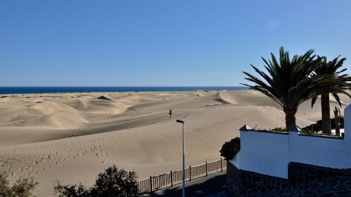 Faszinierend: Die Dünen von Maspalomas, sechs Kilometer lang und fünf Kilometer breit Foto WR