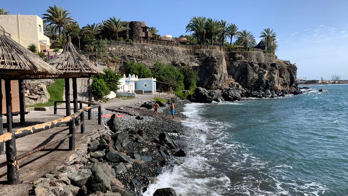 Die Hotelanlage Bahia Felix in der Bucht von Playa de Tarajalillo. Foto WR