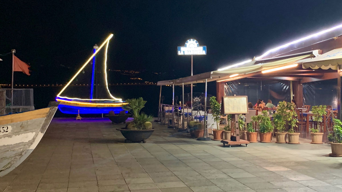 La Marinera, Las Palmas, eines der besten Restaurants am Strand Las Canteras. Foto WR