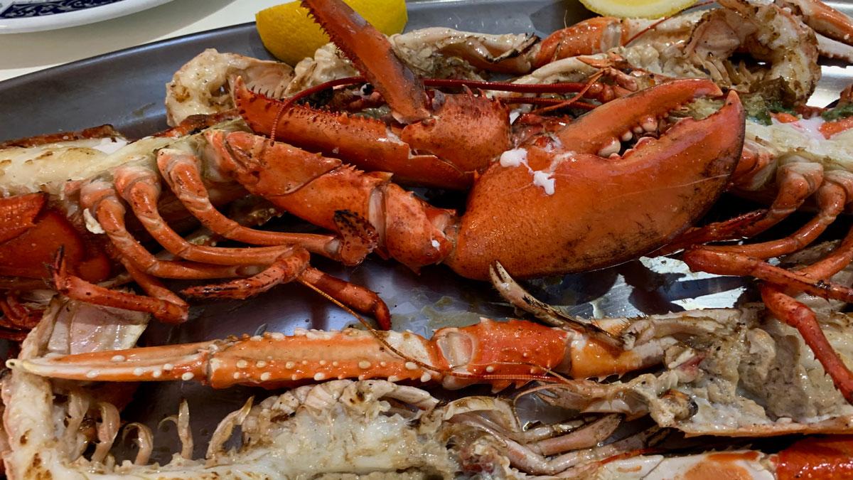 Restaurant La Farola in Arinaga: Beste Hummer, Langusten und Garnelen. Foto WR
