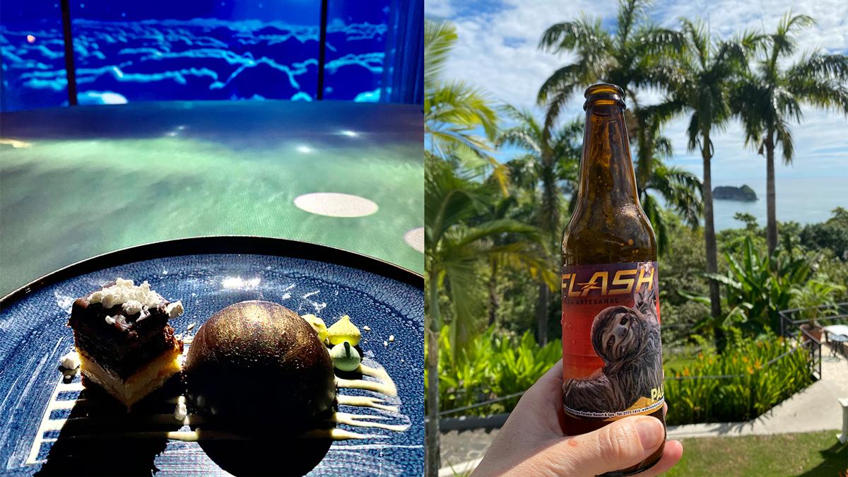 Außergewöhnliches Dessert, außergewöhnliches Bier – im Parador Hotel bekommt man beides. Foto: Inna Hemme