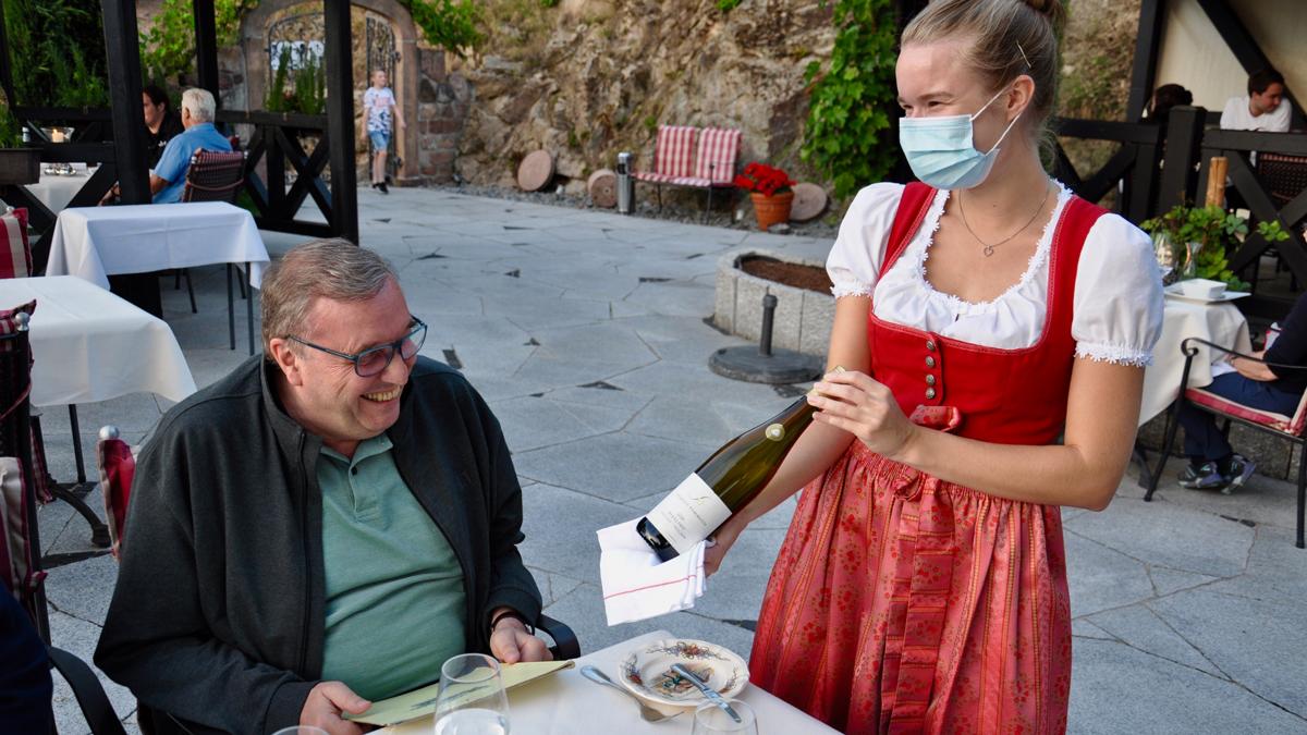 In fast allen Restaurants findet man Bimmerle auf der Weinkarte. Foto WR