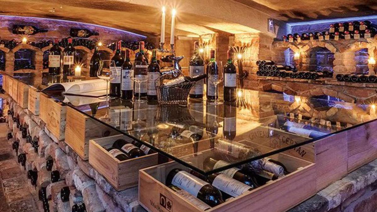 Der Jagdhof im Stubaital: der Weinkeller gehört zu den 15 besten in Österreich. Foto WR