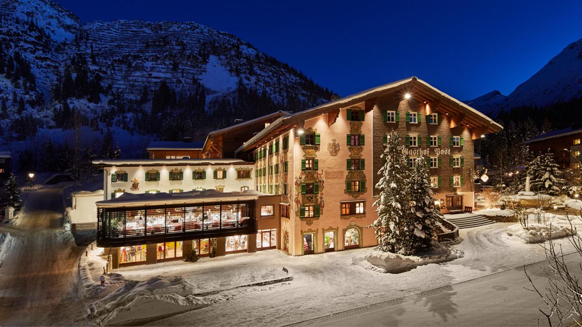 Traumhafter Hotel-Gasthof im Winter aber auch im Sommer. Foto Post